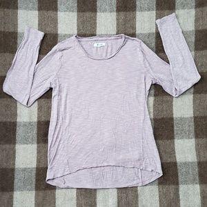 Madewell Pink Long Sleeve Shirt
